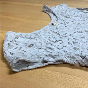 Light Gray Lace Hollister Top